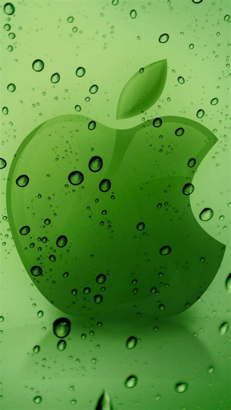 Green Apple Logo Wallpaper for iPhone X, 8, 7, 6 - Free