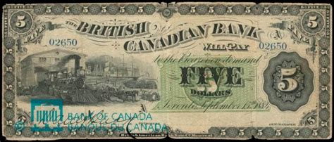 The British Canadian Bank of Toronto Banknote Values