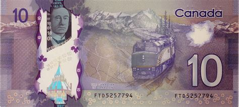 Canada 10 Dollar Polymer Note 2013|World Banknotes & Coins