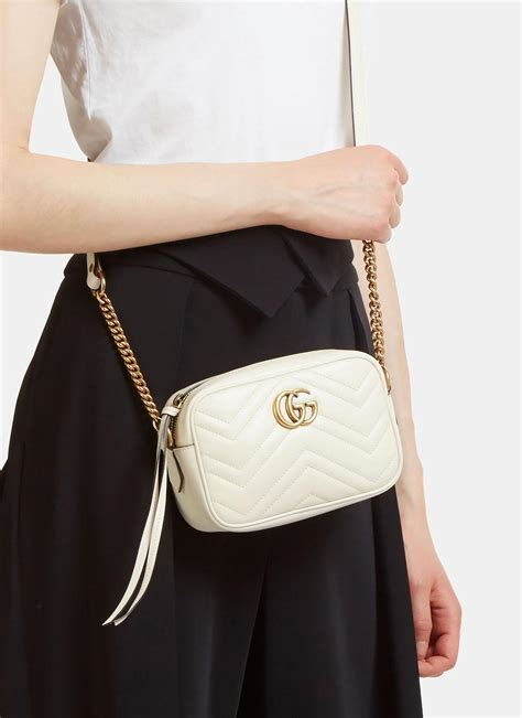 Gucci Gg Marmont Matelassé Mini Bag In Ivory in White - Lyst