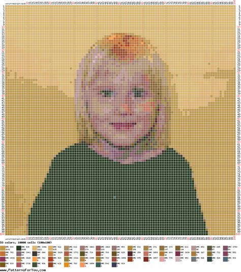 Free pattern maker: Cross stitch picture or photo based