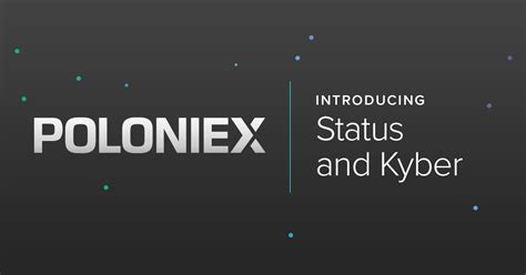 Introducing SNT and KNC, our latest ERC20 markets on Poloniex