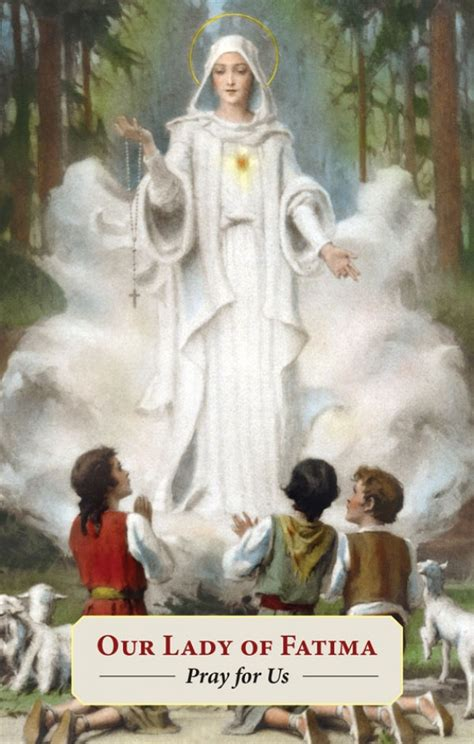 Our Lady of Fatima Prayer Card (Pack of 100)