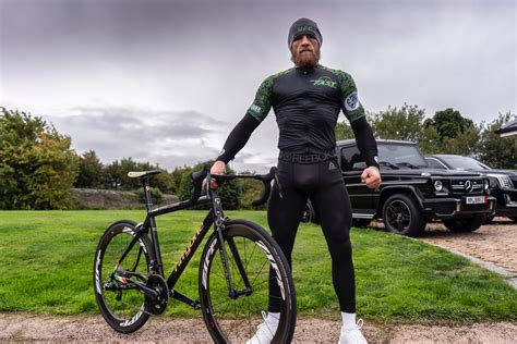 Connor McGregor rolls into his next fight on a custom ride